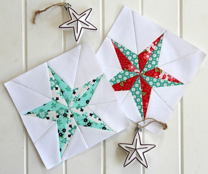 Threadbare Creations- Free Christmas Holiday Star Quilt Block Pattern