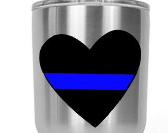 Back The Blue Police Lives Matter Decal  by CustomCreationsByCP