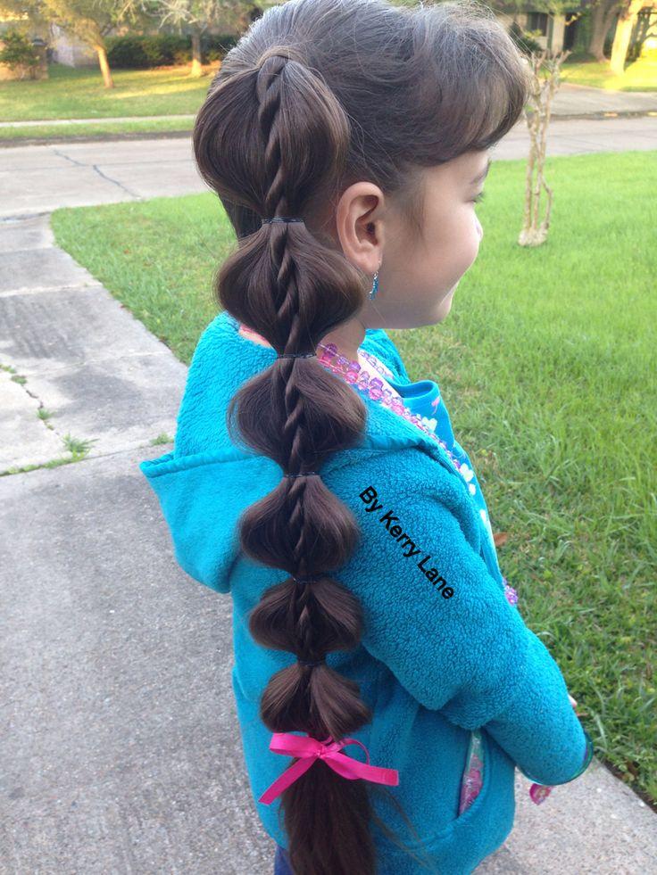 Bubble Ponytail Twist Braid Learn Teach Hairstyles