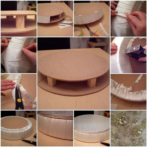 The wedding cake stand in the making ... | Flickr - Photo Sharing!