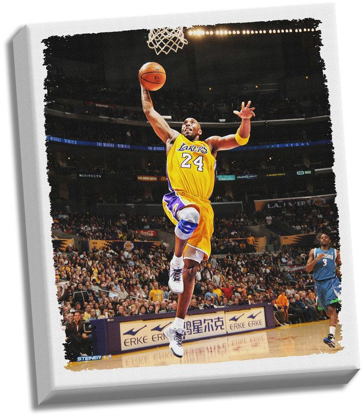 """$313 - Steiner Sports Los Angeles Lakers Kobe Bryant Dunk 32"""" x 40"""" Stretched Canvas - This breathtaking Los Angeles Lakers Kobe Bryant stretched canvas is the perfect way to take your game-watching room to the next level. Hand created Professionally printed High-quality mid-gloss canvas Pre-stretched and ready to hang 32"""" x 40"""" Size: One Size. Color: Multicolor. Gender: Unisex. Age Group: Kids."""