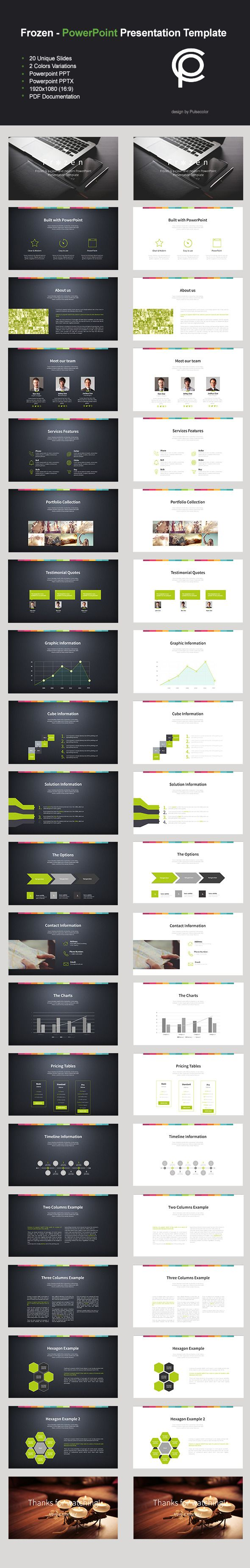 Frozen - PowerPoint Presentation Template #powerpoint #powerpointtemplate #presentation Download: http://graphicriver.net/item/frozen-powerpoint-presentation-template/10243333?ref=ksioks