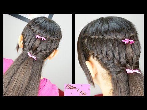 Combo Trenzas: Cascada y Francesa - Waterfall and Ladder Braid|Peinados Faciles|Peinados con Trenzas - YouTube