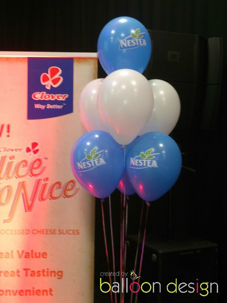 Balloon Bouquets for Clover Nestea