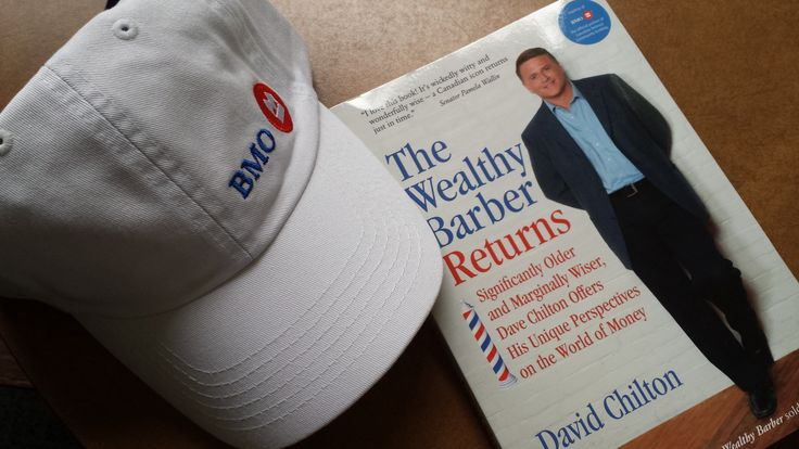 """BMO hat & book """"The Wealthy Barber Returns"""""""
