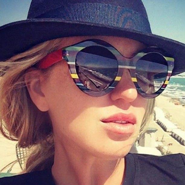 Natalia Kapchuk, bellissima e ancor più unica con gli #ultralimited #emporiocchialifardin #ultralimited #fashion  #fashiongram  #instafashion #fashionglasses #colors #woman #sun