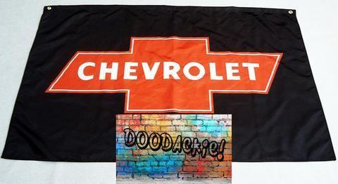 Chevrolet Logo Banner Flag - Black