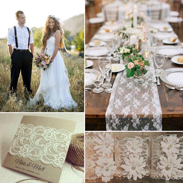 Vintage Hochzeit mit dekorierten Federn, Quasten und Spitzen  Vintage ...