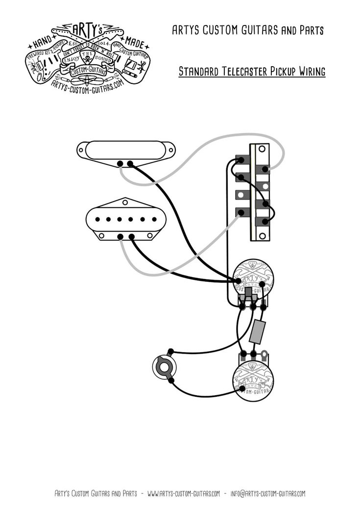 wiring diagram telecaster custom