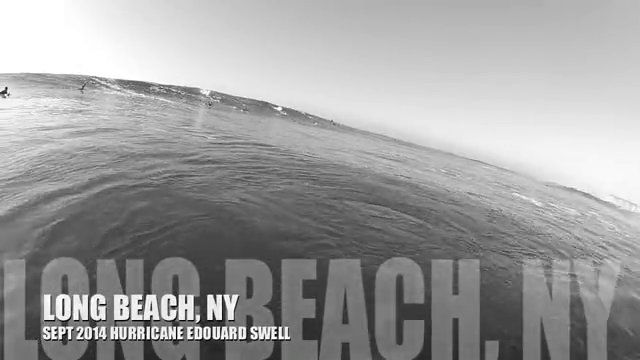 A clip surfing from the Sept 2014 Hurricane Edouard swell in Long Beach, NY