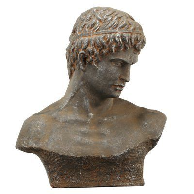 A and B Home Atticus Bust Rustic Sculpture - HP75768