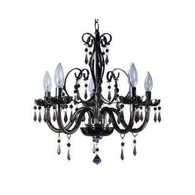 This is the light Sam wants - she fell in LOVE  Titus Manufacturing Ltd. - Bella 5L Black Chandelier - 88130/5BK - Home Depot Canada