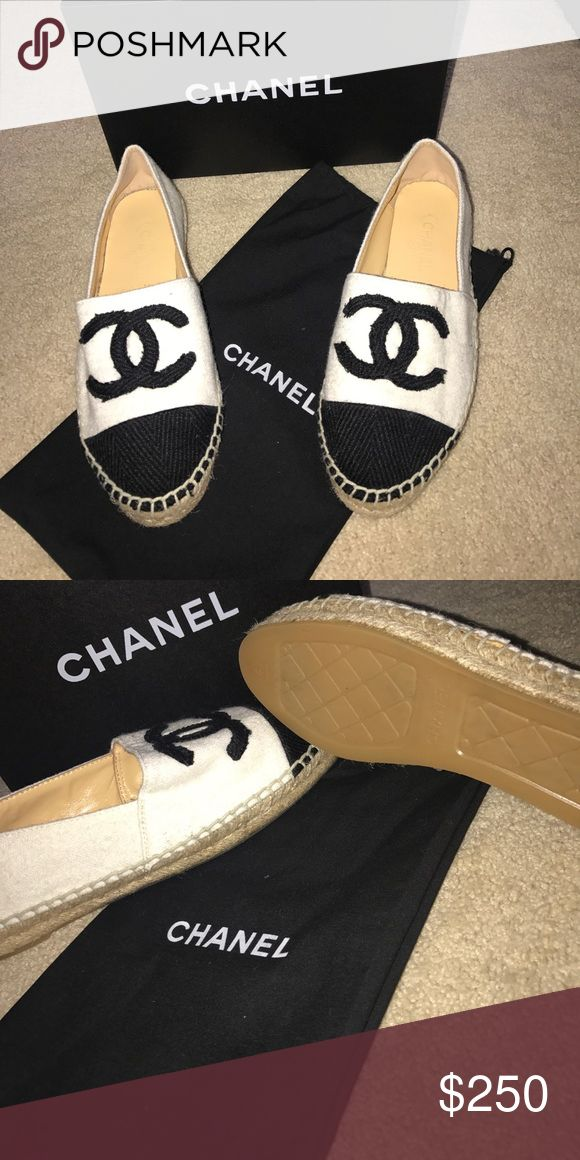 Espadrilles Shoes On sale 💕 On sale! 💕 Chanel Espadrilles! Will fit a 9-9 1/2. Inspired gently used piece! Practically brand new! In great condition! Comes with dust bag and box! Make me an offer! 🤗 CHANEL Shoes Espadrilles