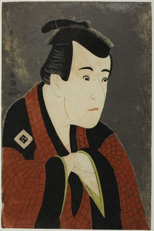 Toshusai Sharaku  Japanese, fl. 1794-1795    The Actor Ichikawa Yaozô III as Tanabe Bunzô, 1794    Color woodblock print; oban.  The Art Institute of Chicago