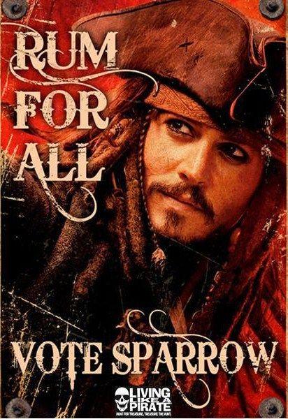 Captain Jack Sparrow Funny Quotes | Captain Jack as the president? Then vote!!:)))) - Captain Jack Sparrow ...  LOL! Vote for Captain Jack!