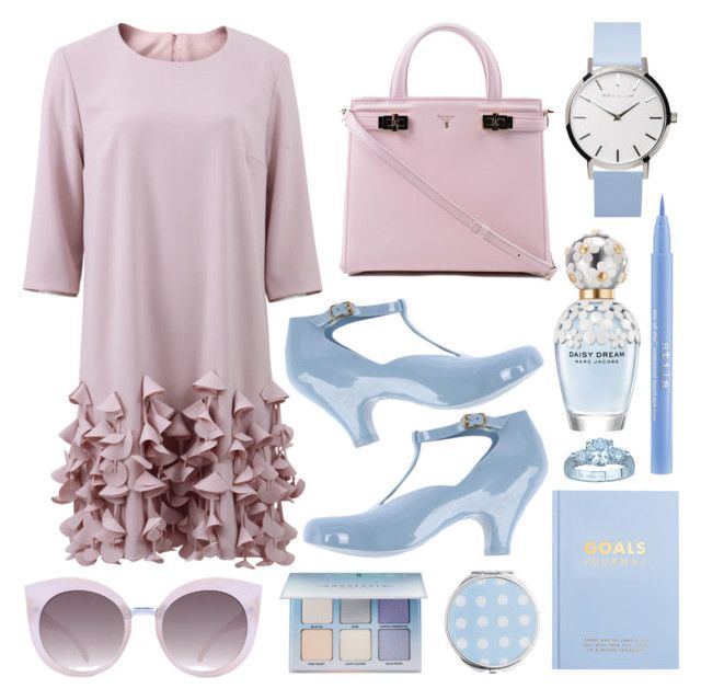 """Pastel #2"" by restyikhyar ❤ liked on Polyvore featuring Catherine Regehr, Serapian, Quay, kikki.K, Miss Selfridge, Anastasia Beverly Hills, Stila, Marc Jacobs and Plutus"