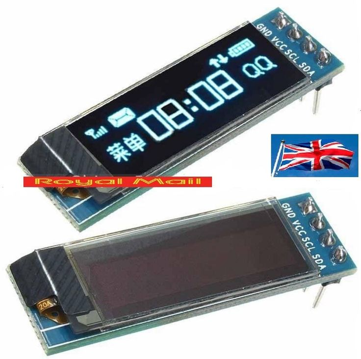 "IIC I2C 0.91""128x32 Blue OLED LCD Display Module 3.3v 5v FOR AVR Arduino #B373 