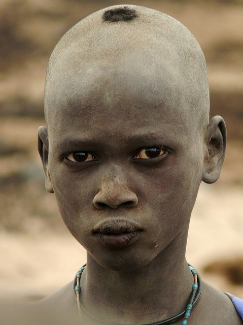 South Sudan. Young Dinka photographed at the cattle camp. Al Buhayrat // ©Ngari Norway: