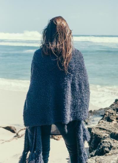 Fluffy Knit Scardigan | humidity DESIGN