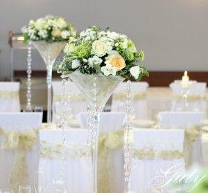 Guty svadobná výzdoba zlatá s potlačov, maritni vázy, diamanty