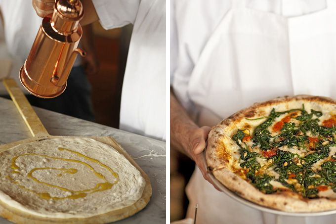 Pizzeria Stella in Philadelphia (Left photo courtesy Pizzeria Stella, right photo by Courtney Apple)