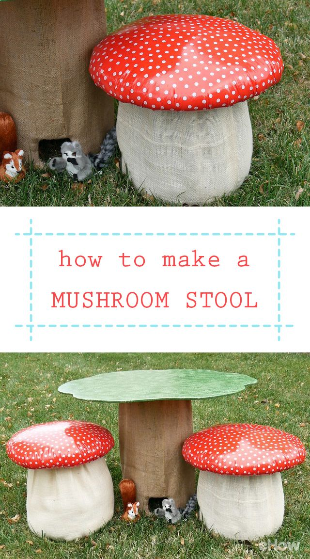 Would you ever guess this super cute mushroom started life as a discarded bucket from a deli? This mushroom stool is made from a used 5-gallon bucket, some scrap plywood, a pool noodle and a few other materials that add up to about $20 for two stools. DIY here: http://www.ehow.com/how_12343649_make-mushroom-chair.html?utm_source=pinterest.com&utm_medium=referral&utm_content=freestyle&utm_campaign=fanpage