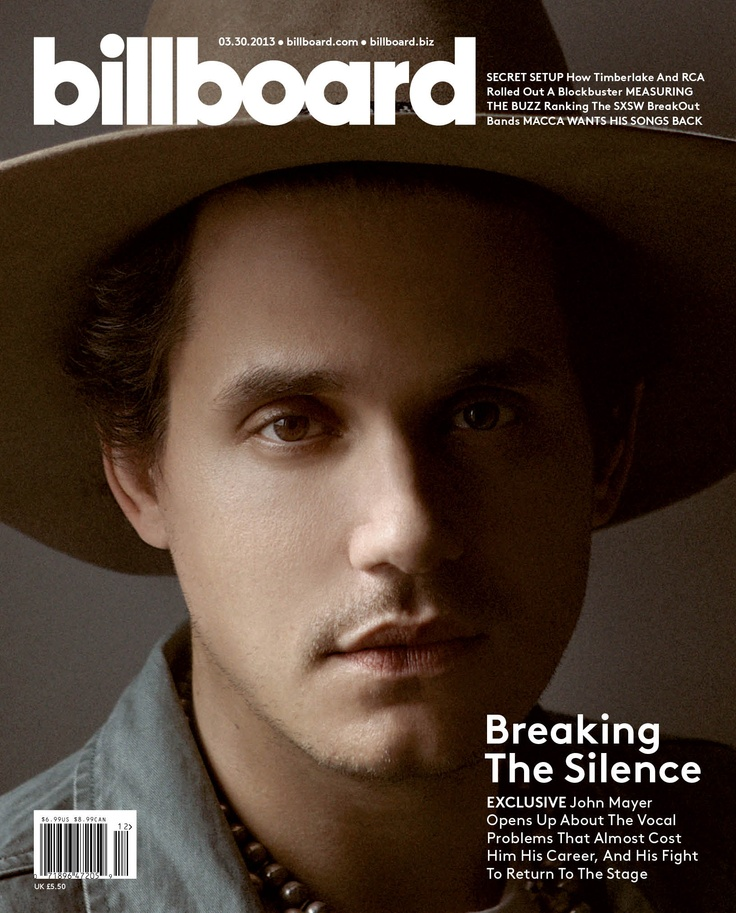 John Mayer - John Mayer Cover Story for Billboard Magazine (3.22.13).
