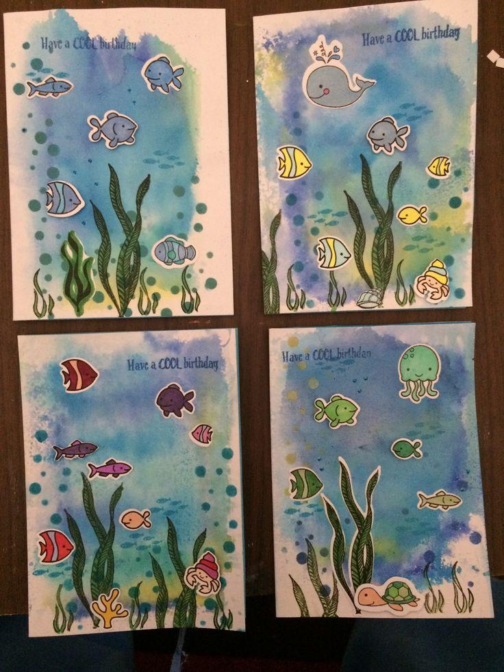 Ocean Fish cards 🐠 🐟  December 2017