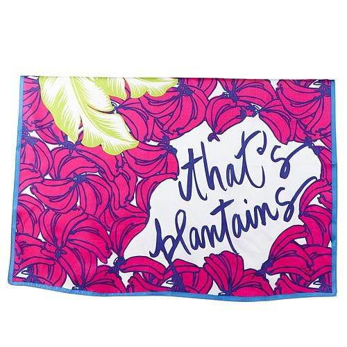 Echo Design Echo Plantains Silk Square Bandana - Hibiscus/Pink