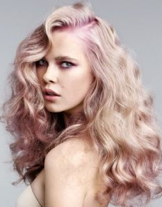 Styles for long naturally curly hair i like the color its got a pink tone to it.