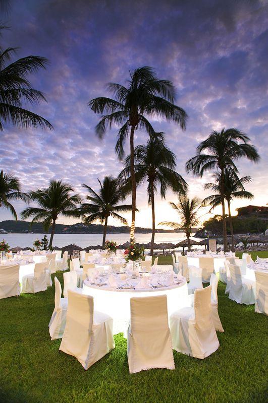Jardín Manzanilla, Hotel Las Brisas, Huatulco. Excelente para tu Boda en Playa.