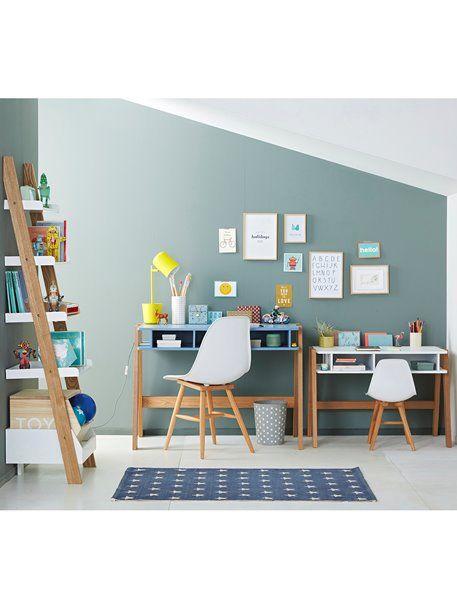 e382c240c55be Bureau spécial primaire LIGNE ARCHITEKT - BLANC+Blanc/bois+Bleu grisé/bois