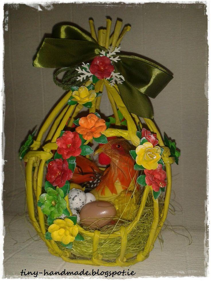 Wielkanocne jajo z wikliny papierowej          blogu- Pomorskie Craftuje