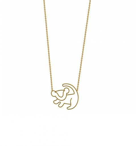 Gold Plated Simba Outline Lion King Necklace From Disney Couture : TruffleShuffle.com on Wanelo