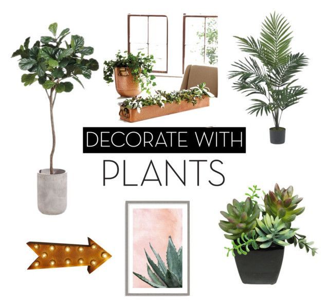 """Decor ideas"" by juanaguzman on Polyvore featuring interior, interiors, interior design, home, home decor, interior decorating, Ballard Designs, Nearly Natural, Art Addiction and plants"
