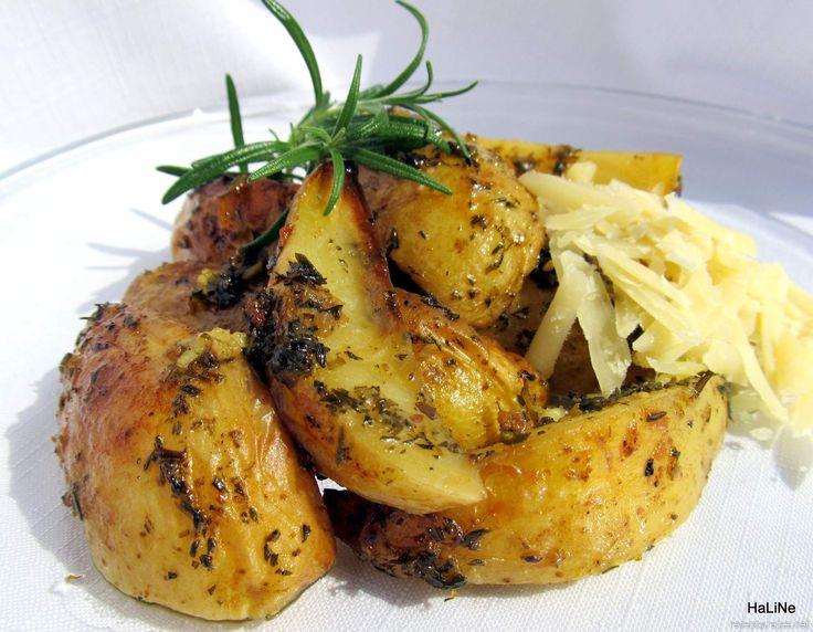 Nejedlé recepty: Pečené bylinkové brambory