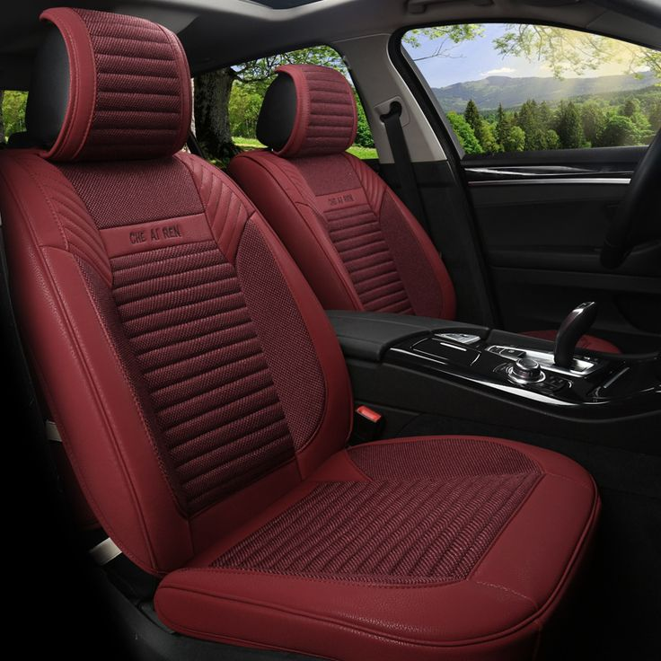 Linen Flax Leather Seat Covers For Ford Kuga ST Fusion Mustang Cmax Taurus Escape Edge Explorer