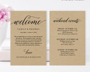 Wedding Welcome Bag Note Welcome Bag Letter by MintyPaperieShop