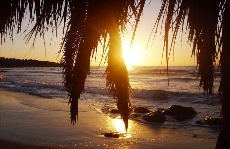 Cefalù, In spiaggia al tramonto