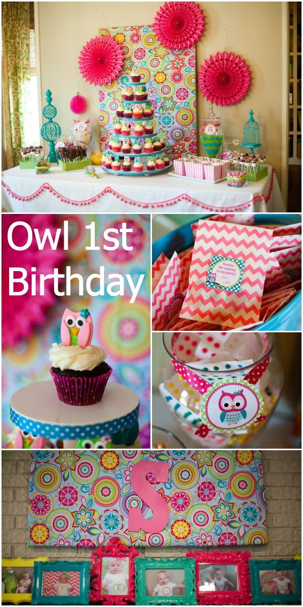Look Whooo's One!  Love the colors in this owl party.