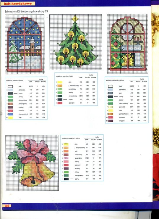 Variety of Christmas Ornaments, plastic canvas, charts, page 2/4