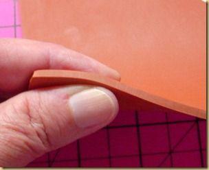 Using Plumbers gasket with embossing folders to eliminate folder lines.
