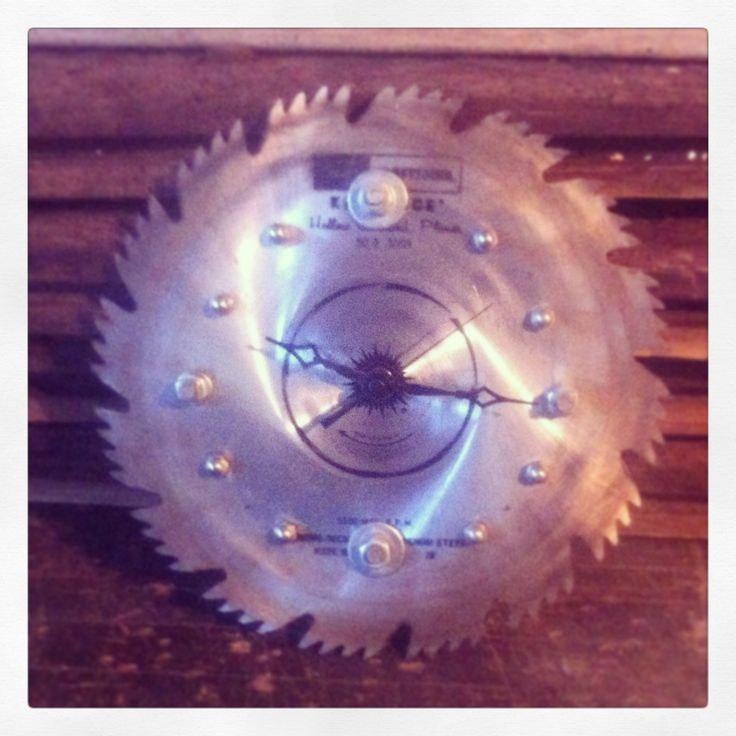 17 best images about saw blade crafts and ideas on for Clock mechanisms for craft projects