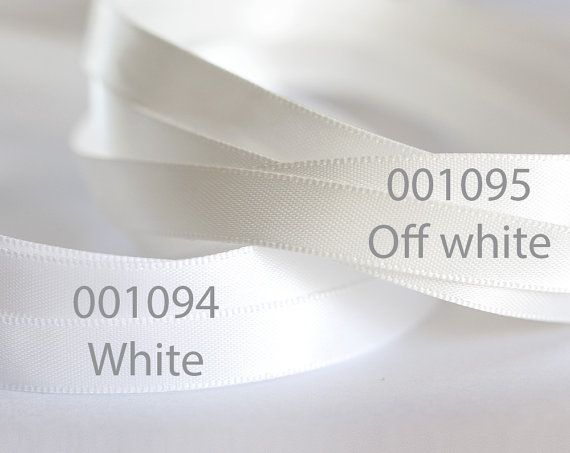 1094_Ribbon 10 mm, Double faced ribbon, White ribbon, Ribbon silk, Satin ribbon, Ribbon double side, Silk ribbon, Satin band for jewelry_10m