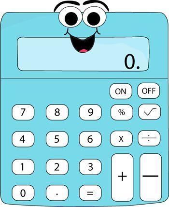 Cartoon calculator.  http://www.mycutegraphics.com/graphics/school/supplies/cartoon-calculator.html