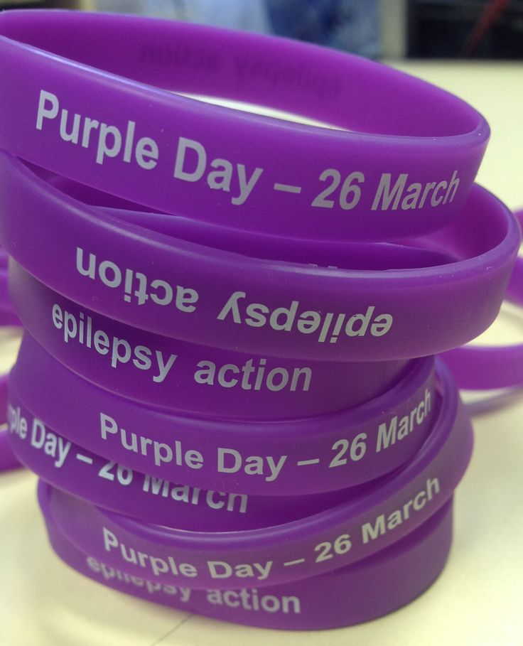 New for 2015: Purple Day epilepsy wristbands
