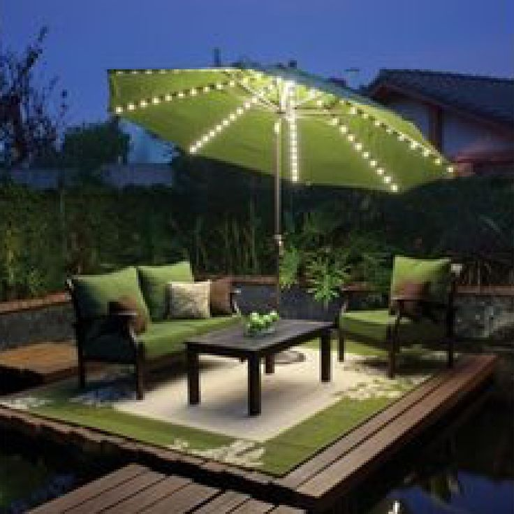 Solar Lights For Patio Umbrellas Enchanting 63 Best Umbrellas And Shade Images On Pinterest  Shades Decks And Design Ideas