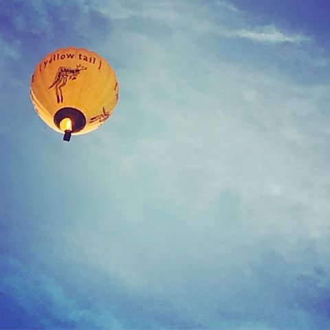 The things that make #Melbourne great. #melbournewinter #hotairbaloon