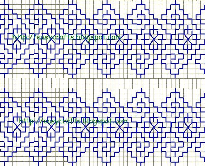 Easy Crafts - Explore your creativity: Kasuti embrodiery design