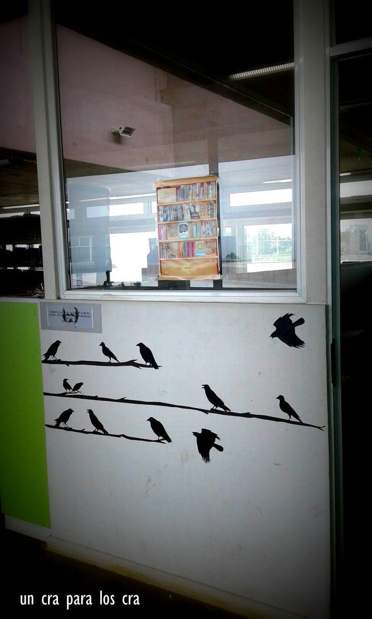 Edgar Alan Poe , decoración Mural biblioteca escolar decoración biblioteca infantil deco Library Display Library Un CRA para los CRA Bibliotekaro